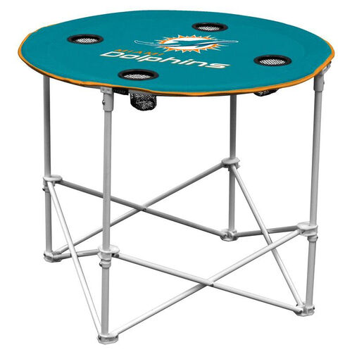Our Miami Dolphins Team Logo Round Folding Table is on sale now.