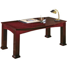 OSP Furniture Mendocino Hardwood Veneer Bow Top TableDesk