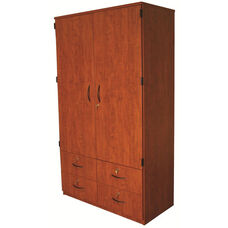 Tall Teacher Cabinet Storage Solution with Doors and 4 Drawers - 48