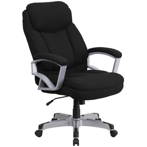 Our HERCULES Series Big & Tall 500 lb. Rated Black Fabric Executive Swivel Ergonomic Office Chair with Arms is on sale now.