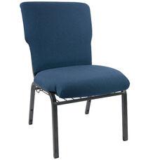 Advantage Navy Discount Church Chair - 21 in. Wide