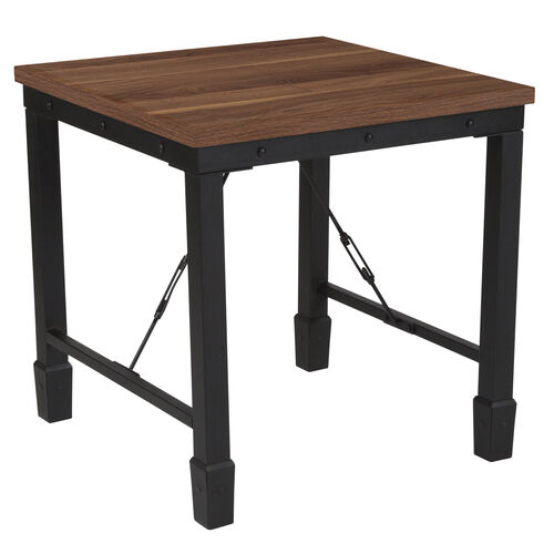 Our Brentwood Collection Rustic Walnut Finish Side Table with Industrial Style Steel Legs is on sale now.