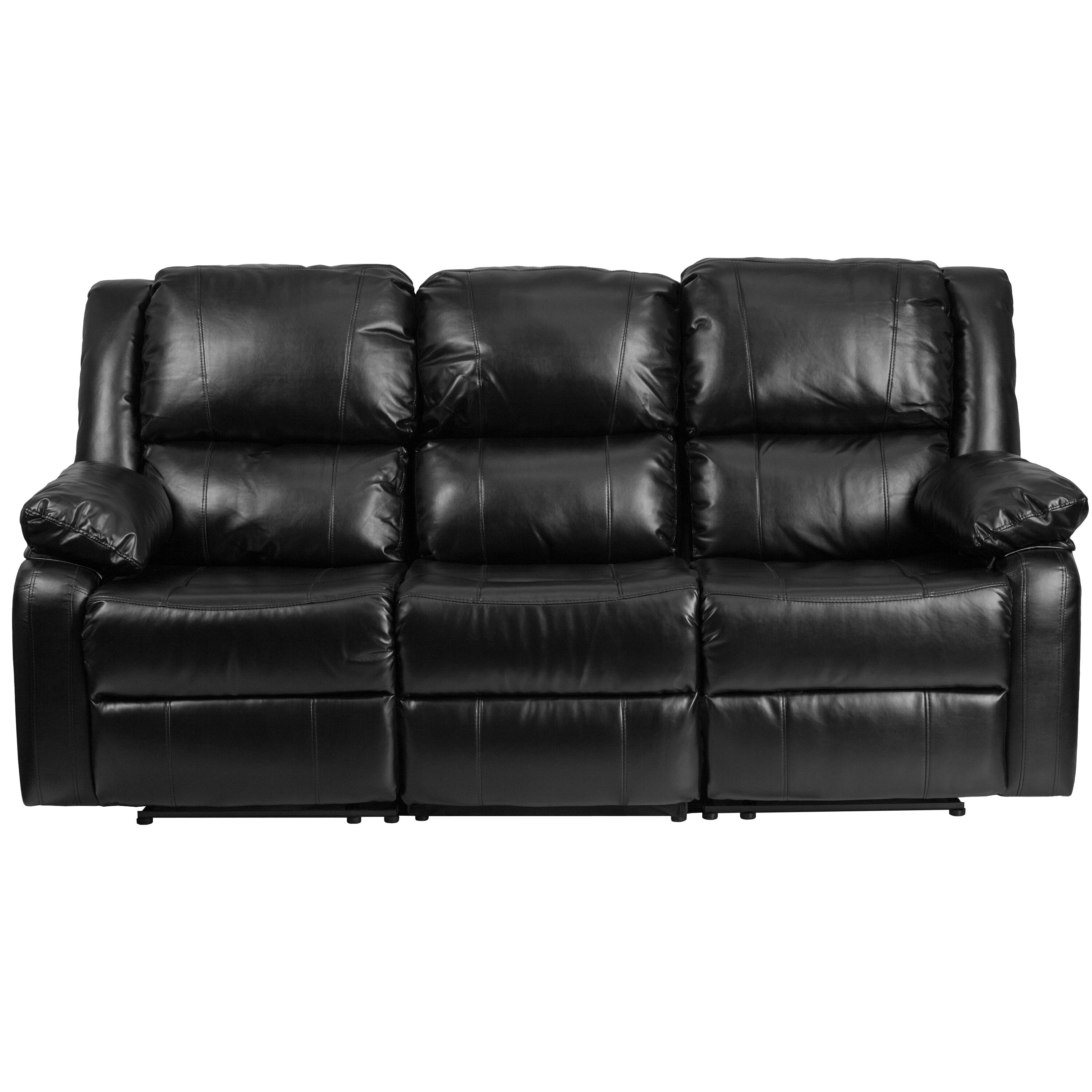 ... Our Harmony Series Black Leather Sofa With Two Built In Recliners Is On  Sale Now ...