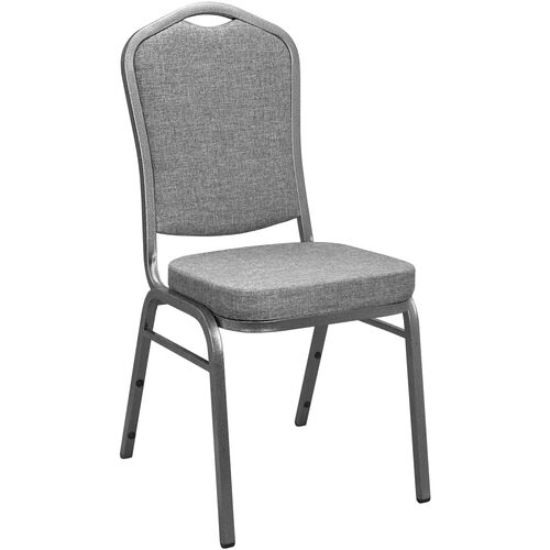 Advantage Charcoal Grey Crown Back Banquet Chair