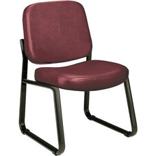 Anti-Microbial and Anti-Bacterial Vinyl Guest and Reception Chair - Wine