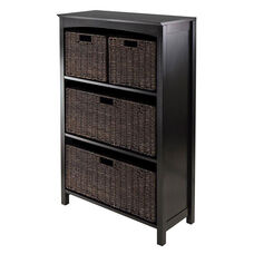 Terrace 5-Pc Storage 4-Tier Shelf with 2 Large and 2 Small Baskets
