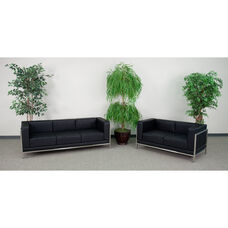 HERCULES Imagination Series Black LeatherSoft Sofa & Loveseat Set