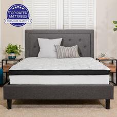 Capri Comfortable Sleep 12 Inch Memory Foam and Pocket Spring Mattress, Twin Mattress in a Box