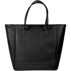 Charlotte Tote Bag - Saffiano Genuine Leather - Black
