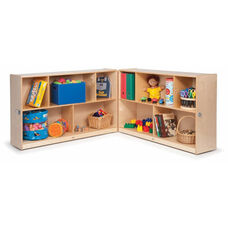 Toddlers Fold & Roll Storage Cabinet in Birch Plywood - 24