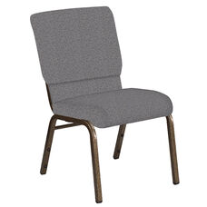 Embroidered 18.5''W Church Chair in Ribbons Fog Fabric - Gold Vein Frame