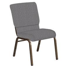 18.5''W Church Chair in Ribbons Fog Fabric - Gold Vein Frame