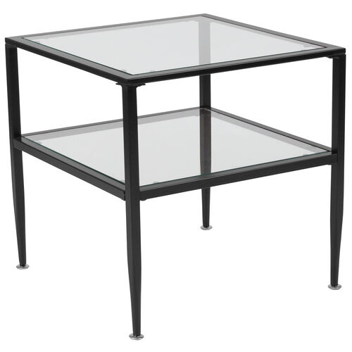 Our Newport Collection Glass End Table with Black Metal Frame is on sale now.