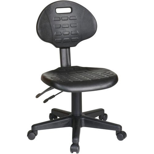 Our Work Smart Self-Skinned Urethane Ergonomic Armless Task Chair with Seat Height Adjustment and Casters - Black is on sale now.