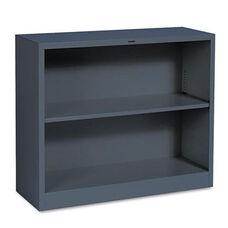HON® Metal Bookcase - Two-Shelf - 34-1/2w x 12-5/8d x 29h - Charcoal