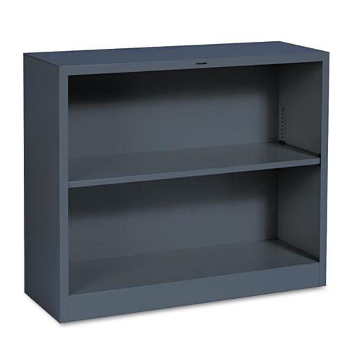 Our HON® Metal Bookcase - Two-Shelf - 34-1/2w x 12-5/8d x 29h - Charcoal is on sale now.