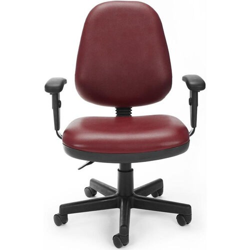 Our Straton Series Anti-Microbial and Anti-Bacterial Vinyl Task Chair with Arms - Wine is on sale now.