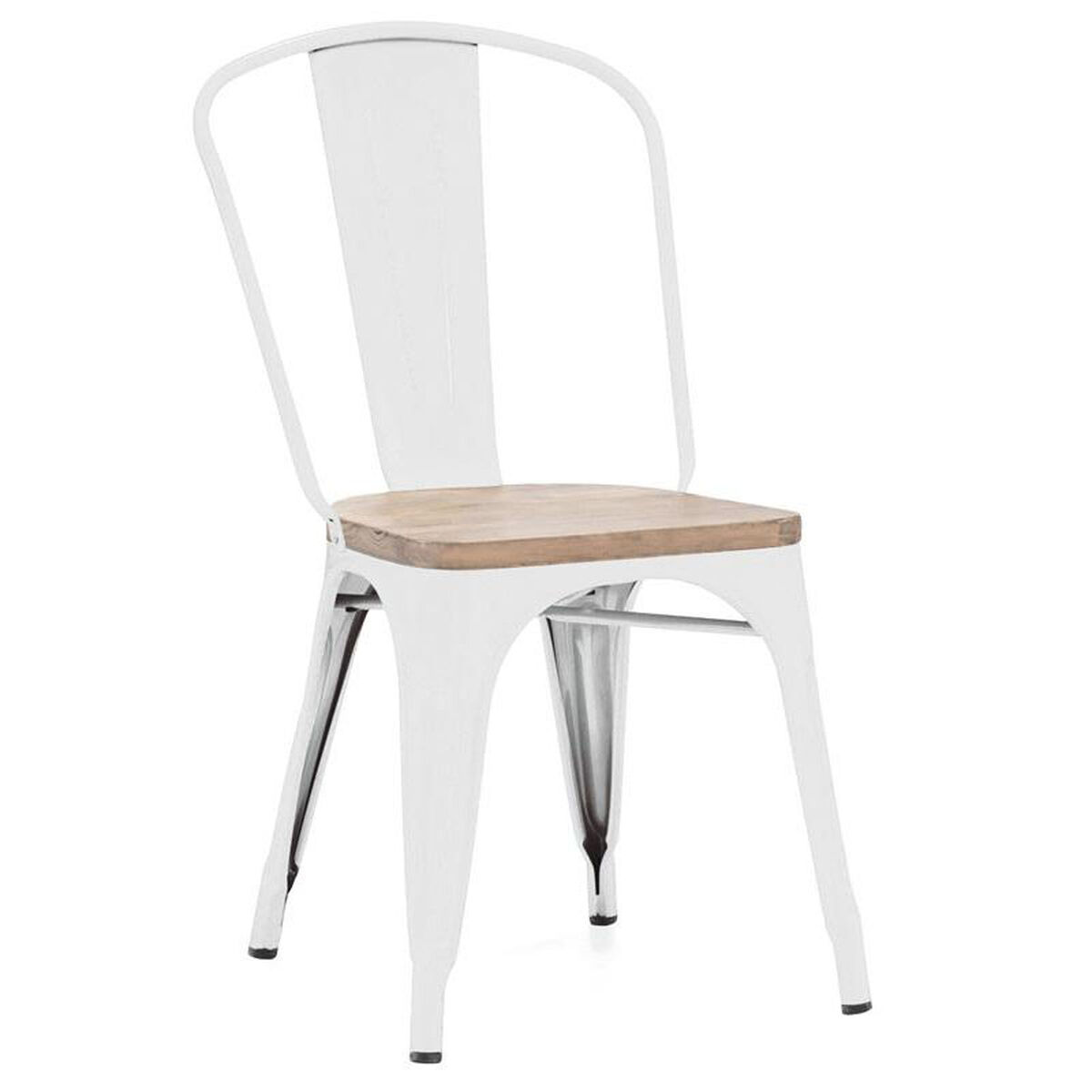 Set Of 4 Dreux Stack Side Chairs Ls 9000 Whtlw Bizchair Com