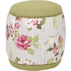 Ave Six Briana Barrel Stool - Basil Fabric