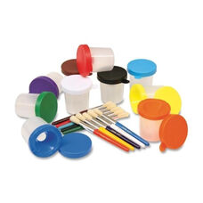 Chenille Kraft Company Paint Cups - Round No Spill - Stuby Brush - 12/ST - Assorted