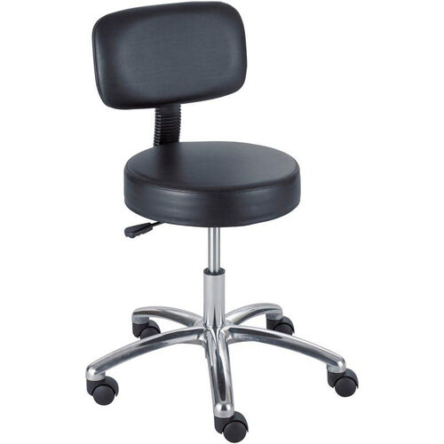 Our Industrial Pneumatic Adjustable Height Vinyl Lab Stool with Back - Black is on sale now.