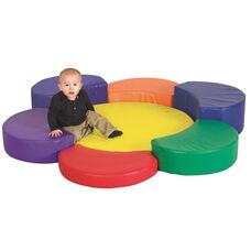 SoftZone® Bright Colors Vinyl Covered Foam Rainbow Petal Platform Climber