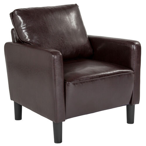 Washington Park Upholstered Chair in Brown LeatherSoft