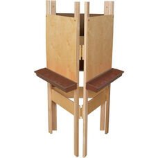 3-Sided Adjustable Art Easel with Plywood and Brown Trays - 24