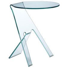 Journey Side Table with Clear Glass