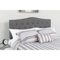 Cambridge Tufted Upholstered Full Size Headboard in Dark Gray Fabric