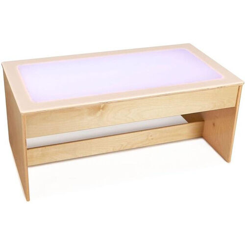 Our Large Wooden Multicolored LED Light Table with Acrylic Top - 42.5