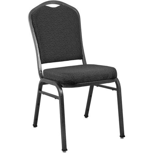 Advantage Premium Patterned Black Crown Back Banquet Chair