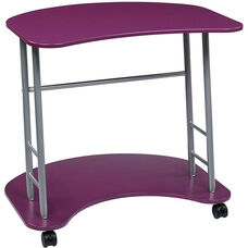 OSP Designs Kool Kolor Computer Desk with Casters - Purple
