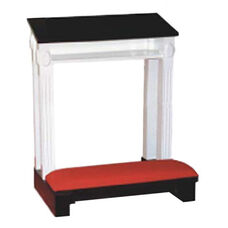 Red Oak Colonial Finish Single Prayer Desk with Upholstered Padded Kneeler