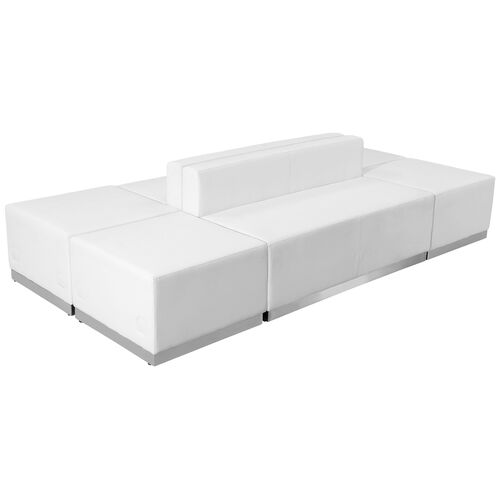 Our HERCULES Alon Series Melrose White LeatherSoft Reception Configuration, 6 Pieces is on sale now.
