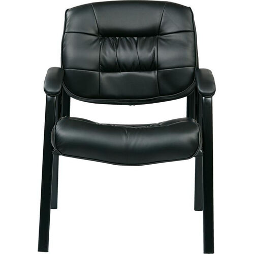 Our Work Smart Bonded Leather Executive Visitors Chair with Steel Base and Padded Arms - Black is on sale now.