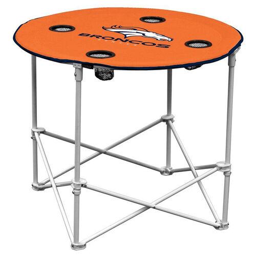 Denver Broncos Team Logo Round Folding Table