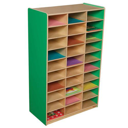 Green Apple Heavy Duty Mailbox Storage and Distribution Center with Thirty Storage Shelves - Fully Assembled - 30