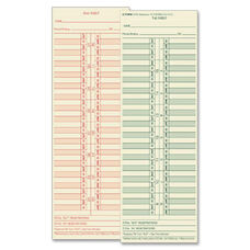 Tops Semi-Monthly Time Cards - Pack Of 500