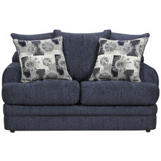 Exceptional Designs by Flash Caliber Navy Chenille Loveseat