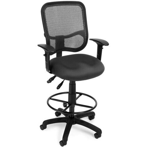 Our Mesh Comfort Ergonomic Task Chair with Arms and Drafting Kit - Gray is on sale now.