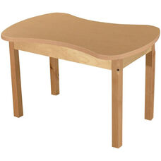 Synergy Classroom High Pressure Laminate Desk with Hardwood Legs - 36