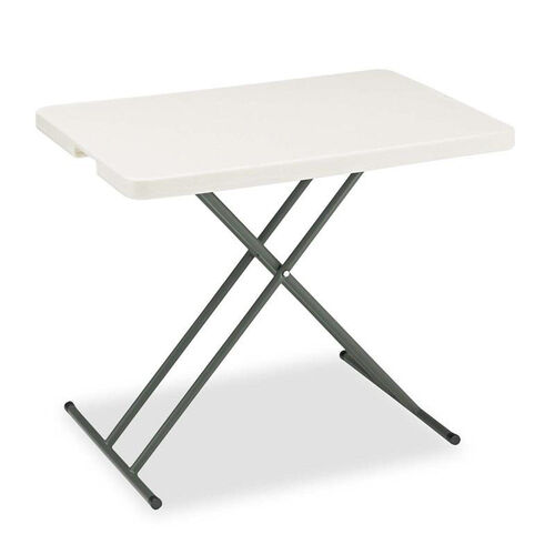 Iceberg IndestrucTables Too 1200 Series Resin Personal Folding Table - 30 x 20 - Platinum