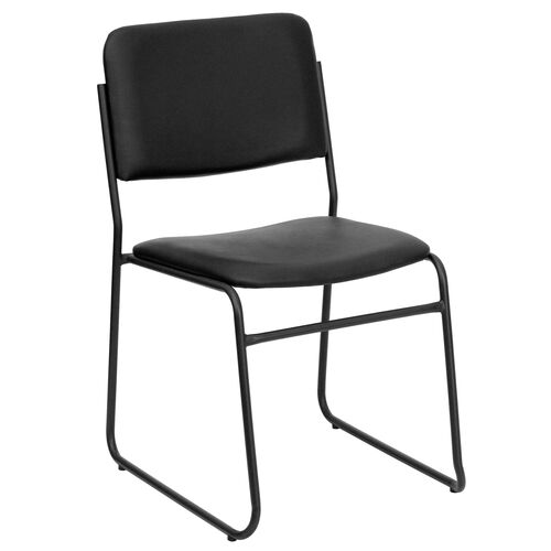 Our HERCULES Series 1000 lb. Capacity High Density Black Vinyl Stacking Chair with Sled Base is on sale now.