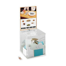 Safco Customizable Locking Acrylic Collection Box