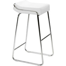 Wedge Barstool in White