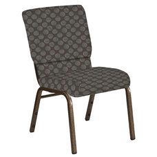 18.5''W Church Chair in Cirque Earth Fabric - Gold Vein Frame