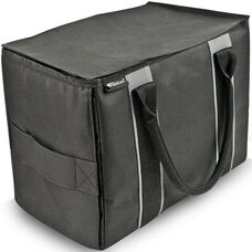 Durable Mini File Tote - Black and Grey