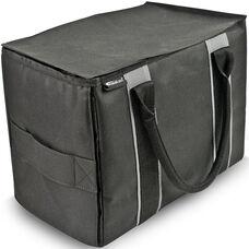 Durable Mini File Tote - Black and Grey
