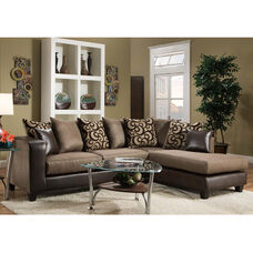 Riverstone Object Espresso Chenille Sectional with Right Side Facing Chaise